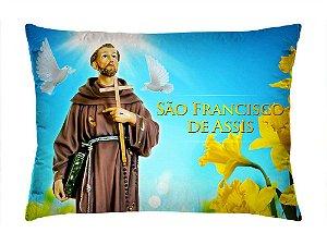 Almofada Retangular 35cm x 26cm + Capa Com Estampa São Francisco De Assis Ref.: T167