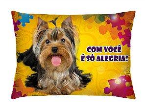 Almofada Retangular 35cm x 26cm + Capa Com Estampa De Animais E Mensagens De Amor Ref.: T193