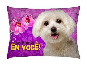 Almofada Retangular 35cm x 26cm + Capa Com Estampa De Animais E Mensagens De Amor Ref.: T194