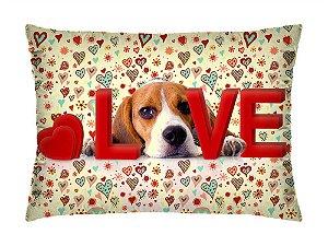 Almofada Retangular 35cm x 26cm + Capa Com Estampa De Animais E Mensagens De Amor Ref.: T197