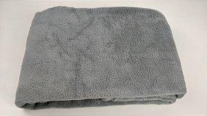 Manta Para Bebê Microfibra Lisa 80cm X 1,10m Cinza Claro