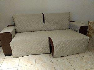 Protetor Para Sofá De 02 Módulos Microfibra Matelado Retrátil Reclinável Com Assento De 1,60M