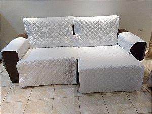 Protetor Para Sofá De 02 Módulos Microfibra Matelado Retrátil Reclinável Com Assento De 2,70M