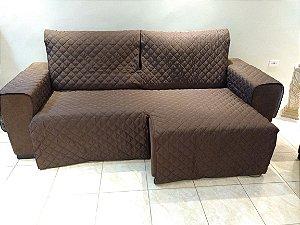 Protetor Para Sofá De 02 Módulos Microfibra Matelado Retrátil Reclinável Com Assento De 2,90M