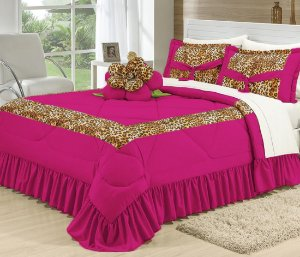 Kit De Cama Queen Completo Amazon 16 Peças Pink