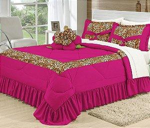Kit De Cama Casal Completo Amazon 16 Peças Pink