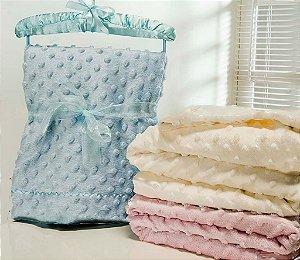 Cobertor Para Bebê Microfibra Sweet Baby Com Cabide