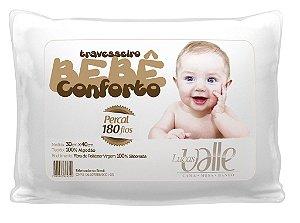 Travesseiro Bebê Conforto 100% Algodão Percal 180 Fios