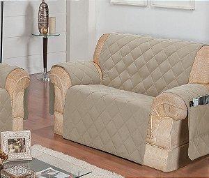 Protetor Para Sofá De 02 Lugares Com Assento De 90cm Matelado Microfibra Lú