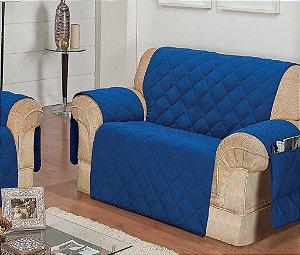 Protetor Para Sofá De 02 Lugares Com Assento De 1,10m Matelado Microfibra Lú