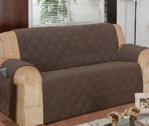 Protetor Para Sofá De 04 Lugares Com Assento De 2,70m Matelado Microfibra Lú