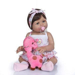 Bebê Reborn Sophia Toda De Silicone - Oferta