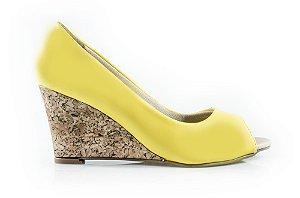 Sapato Peeptoe Winitii Amarelo