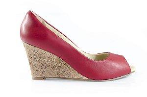 Sapato Peeptoe Winitii Vermelho