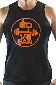 Regata fitness GO VEGAN preta