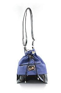 Bolsa Bromelia Azul/Preto
