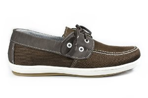 Sapato Vegano Dock side marrom