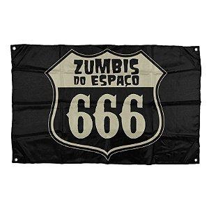 "Zumbis do Espaço ""666"" Bandeira"