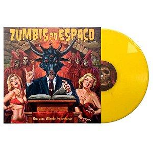 """Zumbis do Espaço """"Em Uma Missão De Satanás"""" Vinil 12"""" Amarelo"""