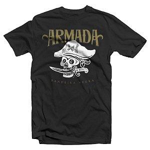 """Armada """"Caveira"""" Camiseta Preta"""
