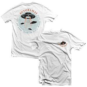 """Autoramas """"UFO"""" Camiseta Branca"""