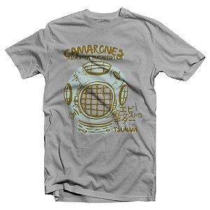 "Camarones Orquestra Guitarrística ""Tsunami"" Camiseta Cinza Mescla"