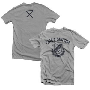 "Circa Survive ""Athletic"" Camiseta Cinza Mescla"