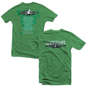 "Dance of Days ""Na Estrada Tour 2013/2014"" Camiseta Verde"