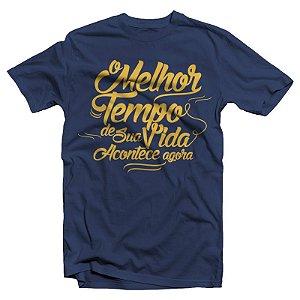 """Dance of Days """"O Melhor Tempo de Sua Vida"""" Camiseta Azul Marinho"""