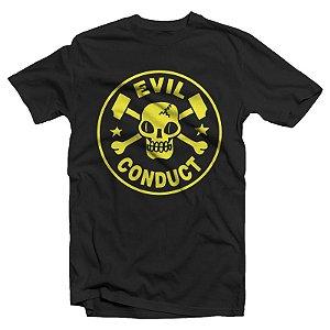 """Evil Conduct """"Logo"""" Camiseta Preta"""