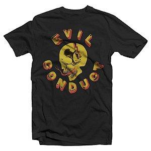 """Evil Conduct """"Skull"""" Camiseta Preta"""
