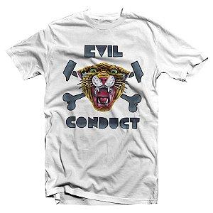 """Evil Conduct """"Tigre"""" Camiseta Branca"""