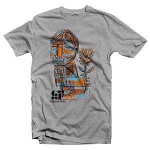 "Garage Fuzz ""Índio"" Camiseta Cinza Mescla"