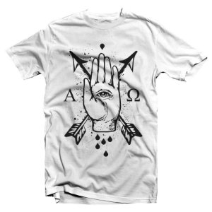 "Institution ""Alpha & Omega"" Camiseta Branca"