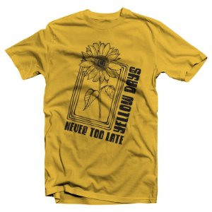 "Never Too Late ""Girassol"" Camiseta Amarela"