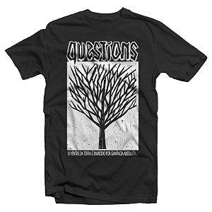 """Questions """"Árvore"""" Camiseta Preta"""