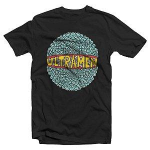 """Ultramen """"Ultracoisa"""" Camiseta Preta"""