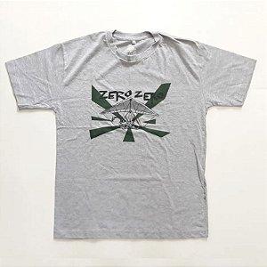 """Zero Zero """"Asa Delta"""" Camiseta Cinza"""
