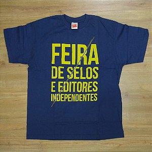 """Feira de Selos """"Logo"""" Camiseta Azul"""