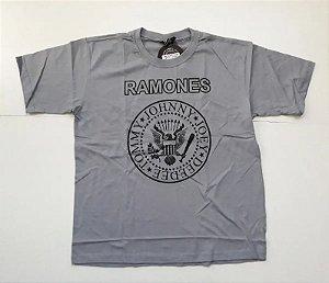 "Ramones ""Hey Ho Lets Go"" Camiseta Cinza"