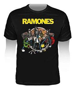 "Ramones ""Road To Ruin"" Camiseta Preta"