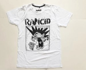"Rancid ""Give'em The Boot"" Camiseta Branca"