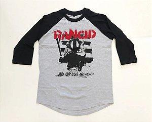 """Rancid """"Wolves"""" Raglan Mescla Manga 3/4"""