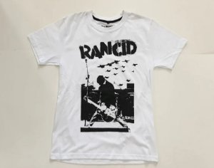"Rancid ""Tim Live"" Camiseta Branca"