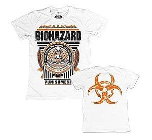 "Biohazard ""Urban Discipline"" Camiseta Branca"