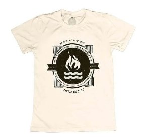 "Hot Water Music ""One Color"" Camiseta Creme"