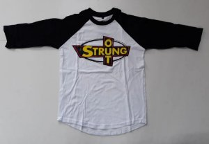 """Strung Out """"Logo"""" Raglan Manga 3/4 Branca"""