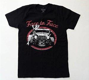 """Face To Face """"Face To Face"""" Camiseta Preta"""