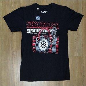 """Pennywise """"About Time"""" Camiseta Preta"""