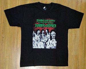 """Zumbis do Espaço """"Zumbis Que Somos"""" Camiseta Preta"""